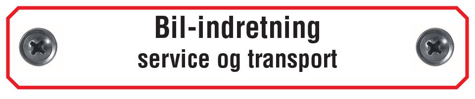 Bil-indretning service og transport